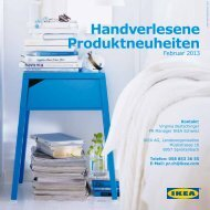 Handverlesene Produktneuheiten (PDF 3MB) - Ikea