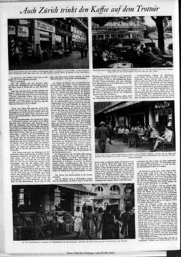 Kaffee aufdem Trottoir - Neue Zürcher Zeitung