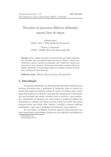 Descriç˜ao de processos difusivos utilizando apenas ... - Unicamp