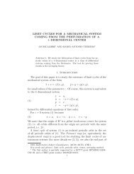 LIMIT CYCLES FOR A MECHANICAL SYSTEM COMING ... - Unicamp