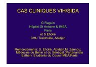 CAS CLINIQUES VIH/SIDA - IMEA