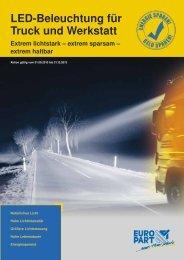 LED-Beleuchtung für Truck und Werkstatt