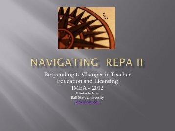 Navigating REPA II