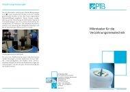Mikrotaster für die Verzahnungsmesstechnik - PTB