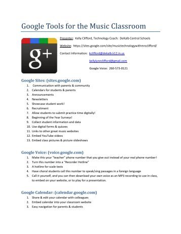 Google Tools for the Music Classroom