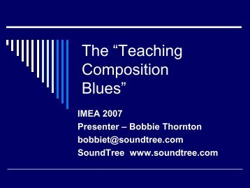 """The """"Teaching Composition Blues"""""""