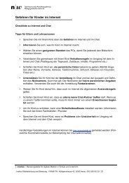 Checkliste gegen Missbrauch im Internet - Imedias
