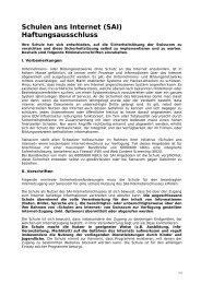 Haftungsausschluss zu Extra ohne Security - Imedias