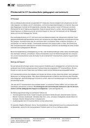 Pflichtenheft für ICT-Verantwortliche (pädagogisch und ... - Imedias