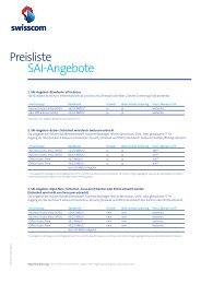 Preisliste SAI-Angebote - Imedias