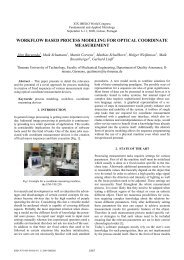 workflow based process modeling for optical coordinate measurement