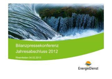 Jahresabschluss 2012-Präsentation Christian Bersier