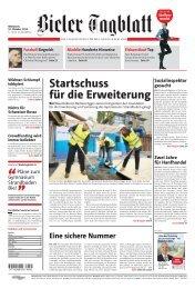Das Bieler Tagblatt vom 16. Oktober 2013