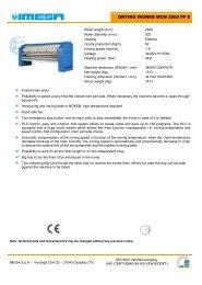 DRYING IRONER MCM 2500 PF E - IMESA SpA