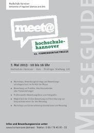 7. Mai 2013 - Hochschule Hannover