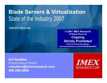 State of the Industry 2007 - IMEX Research
