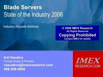 keynote presentation - IMEX Research