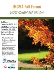 Fall IMGMA - 2011.indd - Iowa Medical Group Management ...