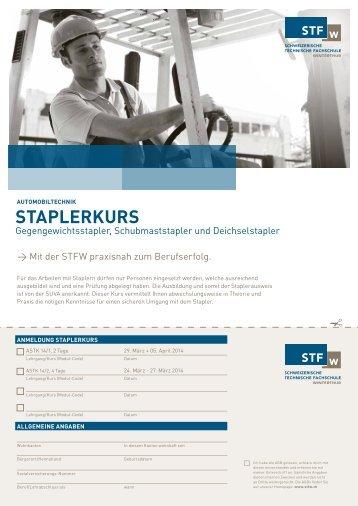 StAplerkurS - Schweizerische Technische Fachschule (STF)