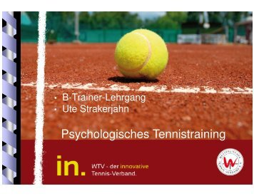 Psychologisches Tennistraining - WTV