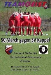 06.10.13. Ausgabe zum Heimspiel gegen SV Kappel - SC March