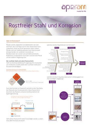 Rostfreier Stahl und Korrosion - Aperam