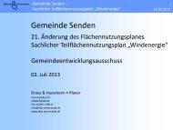"""Präsentation Sachlicher Teilflächennutzungsplan """"Windenergie"""""""