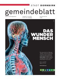 DAS WUNDER MENSCH - Dornbirn Online