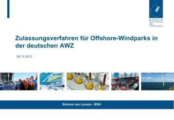 Zulassungsverfahren für Offshore-Windparks in der ... - HZG