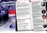 Kartenreservierung 30 Jahre Planetarium Wolfsburg. Jubiläums-A ...