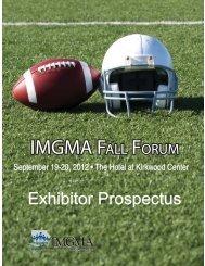 IMGMA Fall Forum
