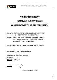 PROJEKT TECHNICZNY - Instytut Meteorologii i Gospodarki Wodnej
