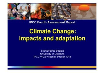 Climate Change: impacts and adaptation