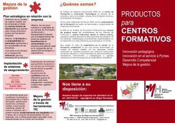 Productos y servicios del IMH para centros formativos e instituciones