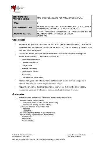 UF0880_Procesos auxiliares de fabricacion en el mecanizado ... - IMH