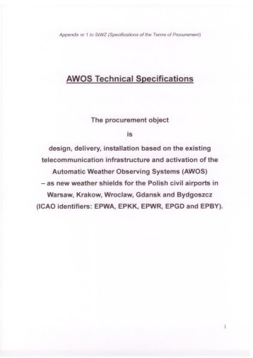 AWOS Technical Specifications