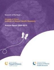 Institute of Mental Health Research Annual Report 2009-2010