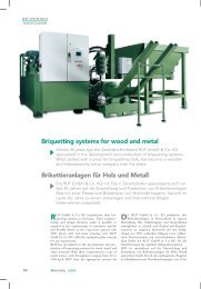 Briquetting systems for wood and metal - Ruf Brikettieranlagen