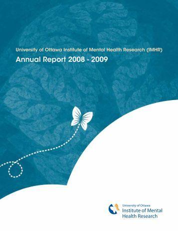 Annual Report 2008 - 2009 - Institut de Recherche en Santé Mentale
