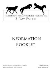 3DE-Information-Book.. - Independent Miniature Horse Registry Inc.