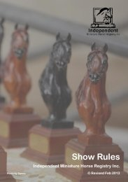 IMHR-Show-Rules-Feb - Independent Miniature Horse Registry Inc.