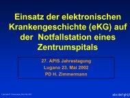 Einsatz der elektronischen Krankengeschichte (eKG) auf der ...