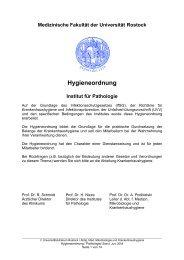 Hygieneordnung Institut für Pathologie - imikro - Universität Rostock