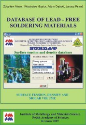 FREE SOLDERING MATERIALS, SURFACE TENSION