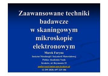 θ - Instytut Metalurgii i Inżynierii Materiałowej PAN w Krakowie