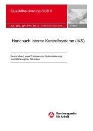 Handbuch Interne Kontrollsysteme (IKS) - Bundesagentur für Arbeit