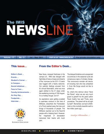 July-September 2011 Issue - Institute of Management and ...