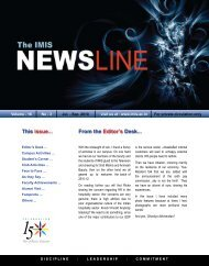 This issue... From the Editor's Desk... - Institute of Management and ...