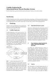 Usability-Engineering für Sicherheitskritische Mensch-Maschine ...