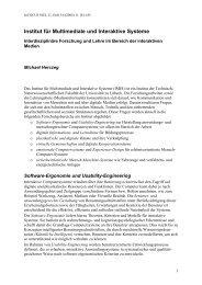 Institut für Multimediale und Interaktive Systeme - Universität zu ...